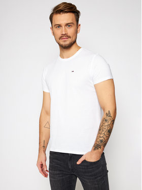 Tommy Jeans Tommy Jeans T-Shirt DM0DM04411 Bílá Regular Fit