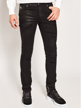 John Richmond John Richmond Blugi Skinny Fit Cicero RMP20137JE Negru Skinny Fit