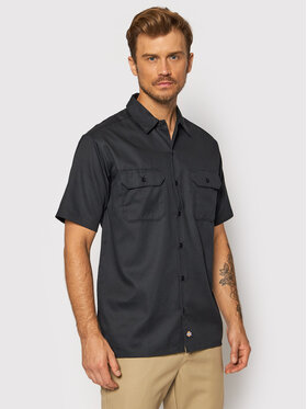 Dickies Dickies Koszula S/S Work DK001574 Czarny Regular Fit