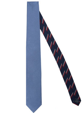 Tommy Hilfiger Tailored Tommy Hilfiger Tailored Krawat Solid Ribbed TT0TT07682 Niebieski