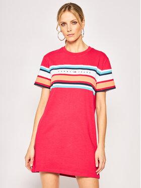 Tommy Jeans Tommy Jeans Kleid für den Alltag Tjw Logo Tee DW0DW08244 Rosa Regular Fit