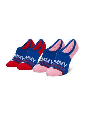 Tommy Jeans Tommy Jeans Set de 2 perechi de șosete scurte de damă 100000402 Albastru