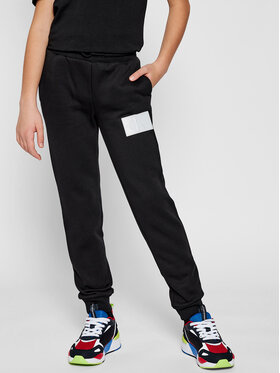 Calvin Klein Jeans Calvin Klein Jeans Jogginghose Monogram Reflective IB0IB00671 Schwarz Regular Fit