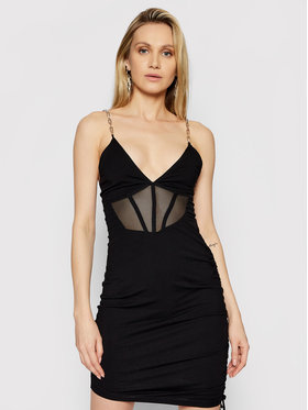 LaBellaMafia LaBellaMafia Koktejlové šaty 21321 Čierna Slim Fit