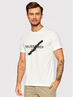 Trussardi Trussardi T-Shirt Logo 52T00521 Beige Regular Fit