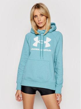 Under Armour Under Armour Mikina UA Rival Fleece Logo Hoodie 1356318 Modrá Regular Fit