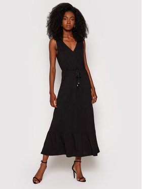 DKNY DKNY Sukienka letnia P1DD0J27 Czarny Regular Fit
