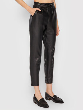 Vero Moda Vero Moda Nohavice z imitácie kože Eva 10205737 Čierna Relaxed Fit