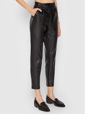 Vero Moda Vero Moda Панталони от имитация на кожа Eva 10205737 Черен Relaxed Fit