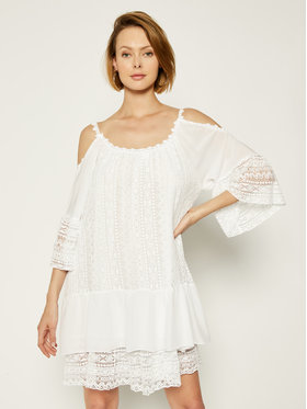 Guess Guess Sommerkleid Dalila W0GK1F WCUZ0 Weiß Oversize