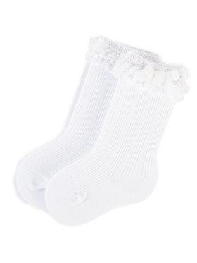 Mayoral Mayoral Vysoké detské ponožky 10636 Biela