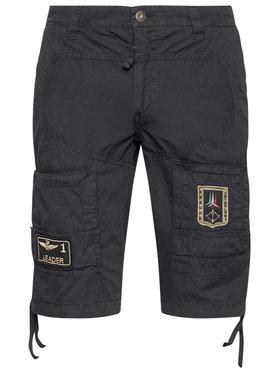 Aeronautica Militare Aeronautica Militare Bavlnené šortky 211BE041CT1122 Tmavomodrá Regular Fit