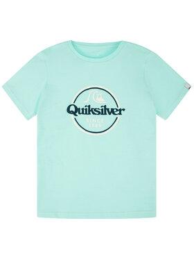 Quiksilver Quiksilver Marškinėliai Words Remain EQBZT04142 Žalia Regular Fit