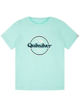 Quiksilver Quiksilver Тишърт Words Remain EQBZT04142 Зелен Regular Fit