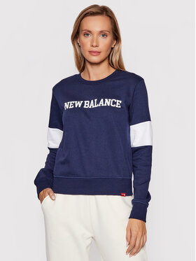 New Balance New Balance Суитшърт Classic Crew WT13807 Тъмносин Relaxed Fit