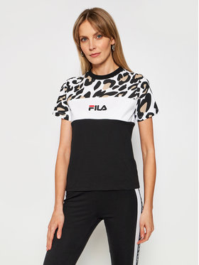 Fila Fila T-Shirt Anokia Aop Blocked 688789 Černá Regular Fit