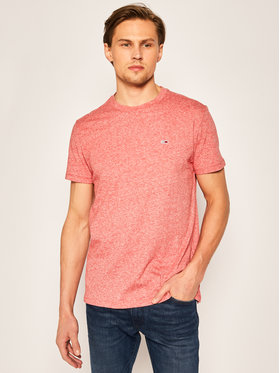 Tommy Jeans Tommy Jeans T-Shirt Slub tee DM0DM07809 Rot Regular Fit