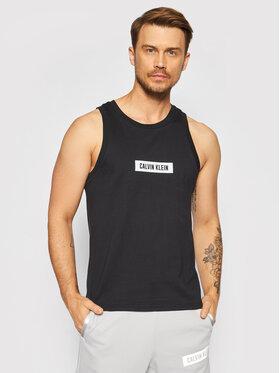 Calvin Klein Performance Calvin Klein Performance Tank top marškinėliai Logo Gym 00GMT1K108 Juoda Regular Fit