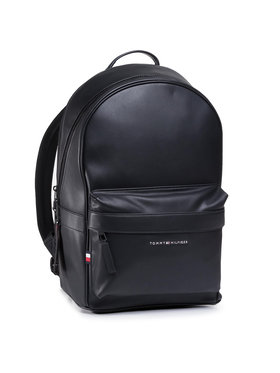 Tommy Hilfiger Tommy Hilfiger Plecak Elevated Pu Backpack AM0AM06697 Czarny