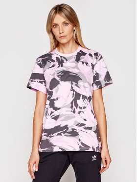 adidas adidas T-shirt Essentials Boyfriend Camouflage GL7587 Ružičasta Boyfriend Fit