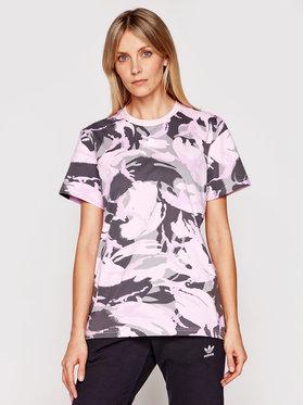 adidas adidas Tričko Essentials Boyfriend Camouflage GL7587 Ružová Boyfriend Fit