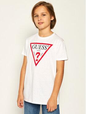 Guess Guess Marškinėliai L73I55 K5M20 Balta Regular Fit