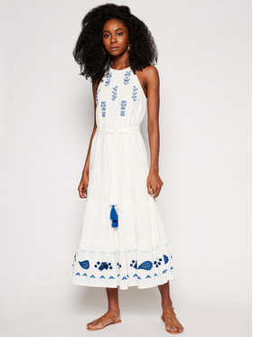 Desigual Desigual Nyári ruha Memphis 21SWVW10 Fehér Regular Fit