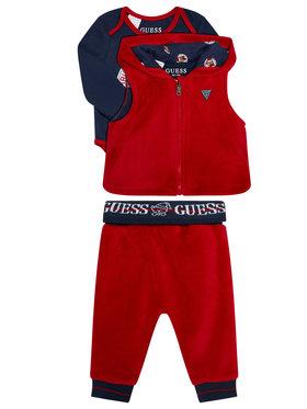 Guess Guess Σετ γιλέκο, κορμάκι και παντελόνι φόρμας P0BG08 K7Q50 Έγχρωμο Regular Fit