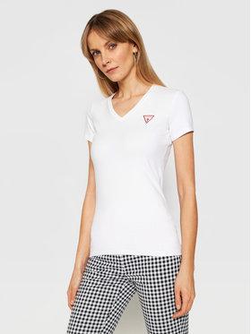 Guess Guess T-Shirt Ss Vn Mini Triangle W1GI17 J1311 Biały Slim Fit