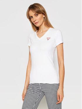 Guess Guess T-shirt Ss Vn Mini Triangle W1GI17 J1311 Bianco Slim Fit