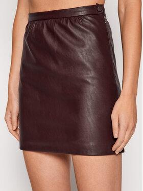 Pinko Pinko Spódnica z imitacji skóry The Mall AI 21-22 BK01 1G16ET 7105 Bordowy Slim Fit