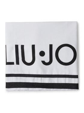 Liu Jo Liu Jo Ręcznik Telo Righe Jacquard VA0190 T0300 Biały