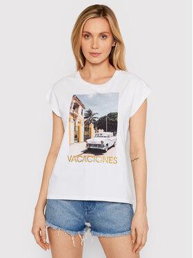 Liu Jo Liu Jo T-Shirt WA1337 J5003 Bílá Regular Fit