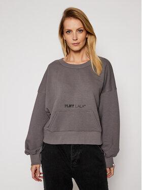 PLNY LALA PLNY LALA Sweatshirt Miss PL-BL-MW-00001 Grau Relaxed Fit