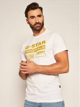 G-Star Raw G-Star Raw Tričko Wavy Logo Originals D17838-B353-110 Biela Regular Fit