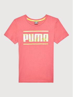 Puma Puma T-Shirt Alpha 581409 Różowy Regular Fit