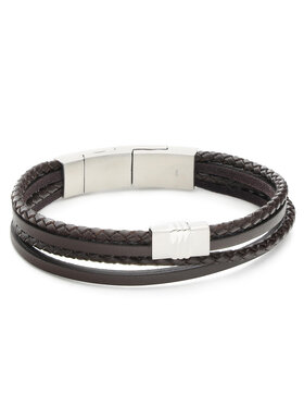 Fossil Fossil Bracelet Casual Texture JF02934040 Marron