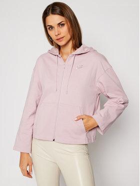NIKE NIKE Mikina Nsw Hoodie Full-Zip CJ3752 Ružová Loose Fit