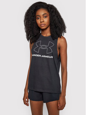 Under Armour Under Armour Halenka Sportstyle Graphic Tank 1356297 Černá Regular Fit