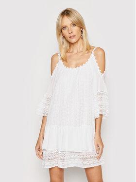 Guess Guess Letní šaty Dalila W0GK1F WCUZ0 Bílá Oversize