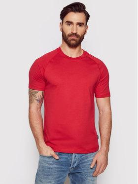 Calvin Klein Calvin Klein Tricou Center Logo Stretch K10K106498 Roșu Regular Fit