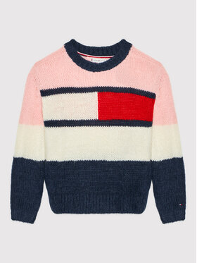 Tommy Hilfiger Tommy Hilfiger Пуловер Flag KG0KG05662 M Цветен Relaxed Fit