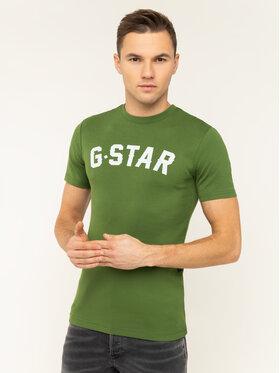 G-Star Raw G-Star Raw Tričko Graphic 16 D12584-1141-3434 Zelená Slim Fit