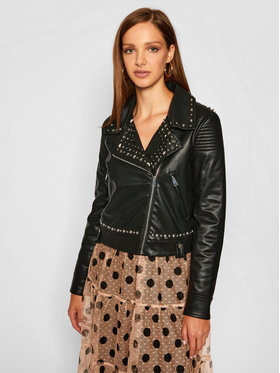 TwinSet TwinSet Jacke aus Kunstleder 202TP2230 Schwarz Regular Fit