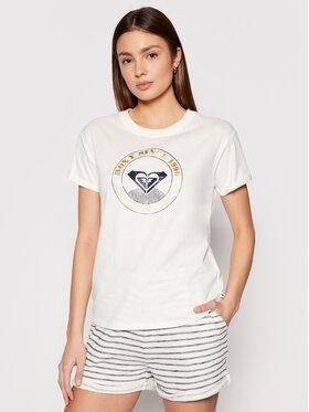 Roxy Roxy T-Shirt Epic Afternoon ERJZT05123 Biały Regular Fit