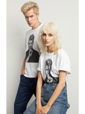 Vistula Vistula T-Shirt Unisex David Bowie By Evans 3 XA1333 Biały Regular Fit
