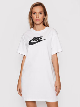 Nike Nike Každodenné šaty Sportswear Essential DM3278 Biela Loose Fit