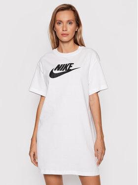 Nike Nike Každodenní šaty Sportswear Essential DM3278 Bílá Loose Fit