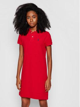 Polo Ralph Lauren Polo Ralph Lauren Kleid für den Alltag Polo Shirt Shop 211799490006 Rot Regular Fit