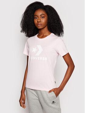 Converse Converse T-Shirt Star Chevron 10018569 Różowy Standard Fit